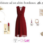 How to combine a burgundy dress for a ceremony