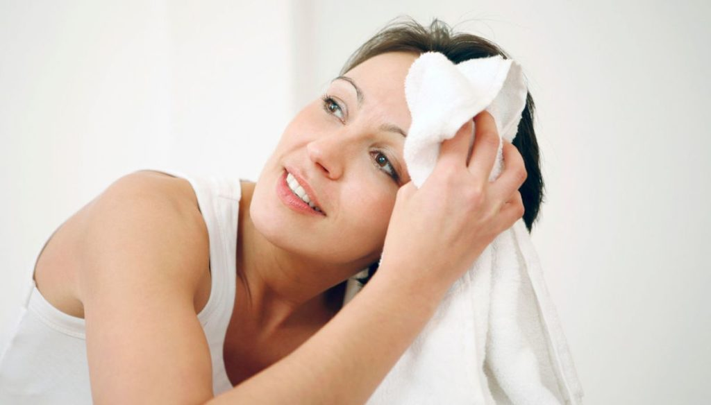 What is facial hyperhidrosis and how is it treated?