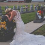 Jessica, who celebrated the wedding at her husband's grave