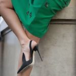 The perfect pair of spring: the pencil skirt and the slingbacks