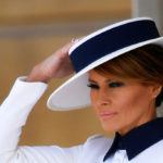 Melania Trump in London dare with the slit: challenge Kate Middleton but is ignored by Meghan