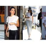 Copy Kendall Jenner's look: 4 ways to wear the knot t-shirt!