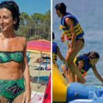 Agnese Renzi's low cost holidays, camping with her daughter