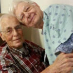 Thomas and Delma go hand in hand. After 62 years together
