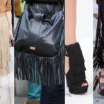 "It's still fringe mania: bags, shoes and clothes all ""fringe"""