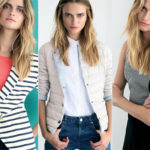 Super light down jackets, denim, stripes and color: Oltre spring collection. PHOTO