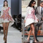 Mrs Clooney chooses Italian fashion: Valli for her