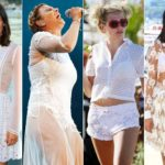 White, summer color. The stars wear it this way (and sometimes they make mistakes)