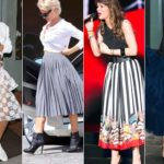How to wear a full skirt: the photos