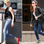 Skinny jeans, how to look thinner. Copy the tricks of the stars