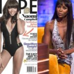 Naomi Campbell on the cover changes skin and turns white. Photo
