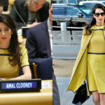 Amal Clooney super chic: tummy on display at the United Nations