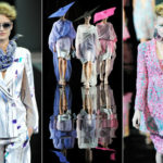 Milan fashion shows: Armani on the catwalk, between colors and ethereal organs