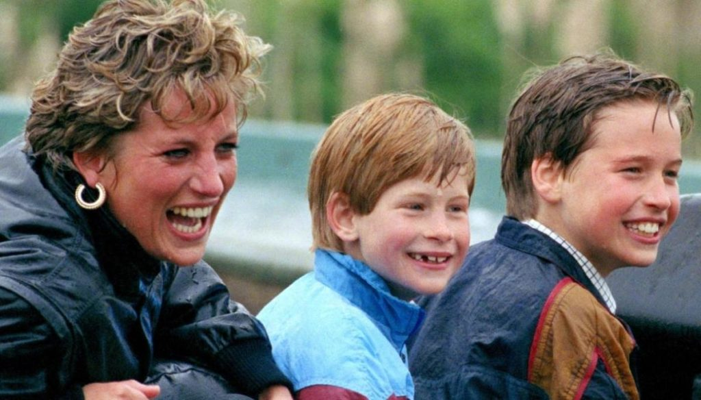 Lady Diana, as William saved Harry after his death