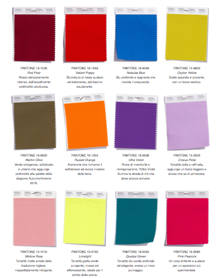 Pantone Colors Fall Winter 2018 2019 Here Is The Palette