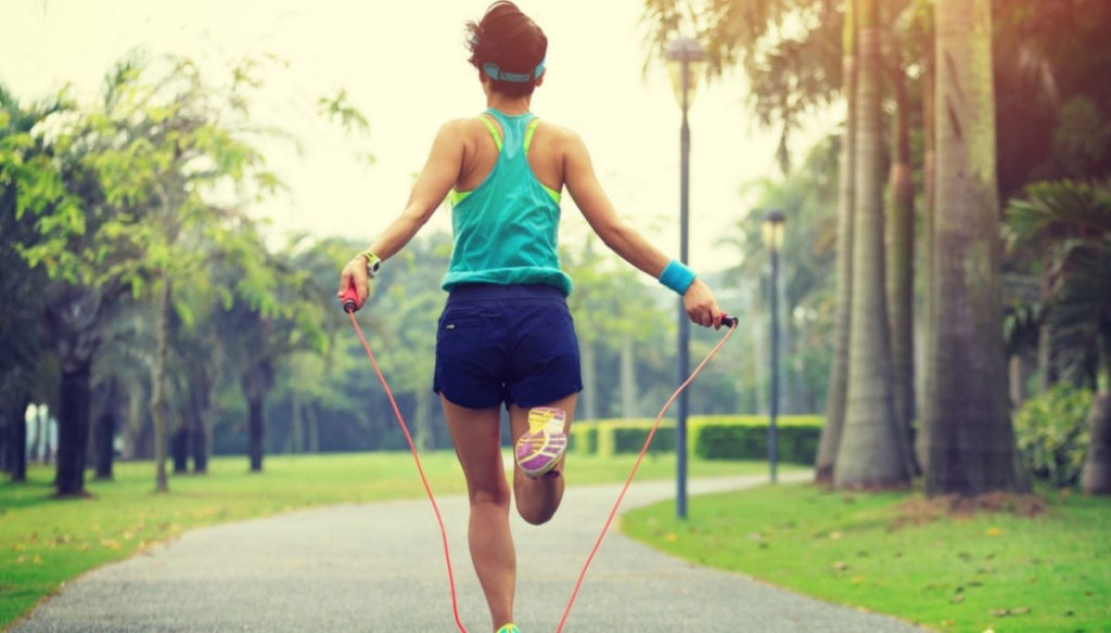 Skipping rope, benefits on weight and calories burned