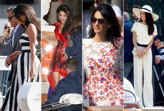 Things to know about Amal Alamuddin's clothes, including a wedding dress