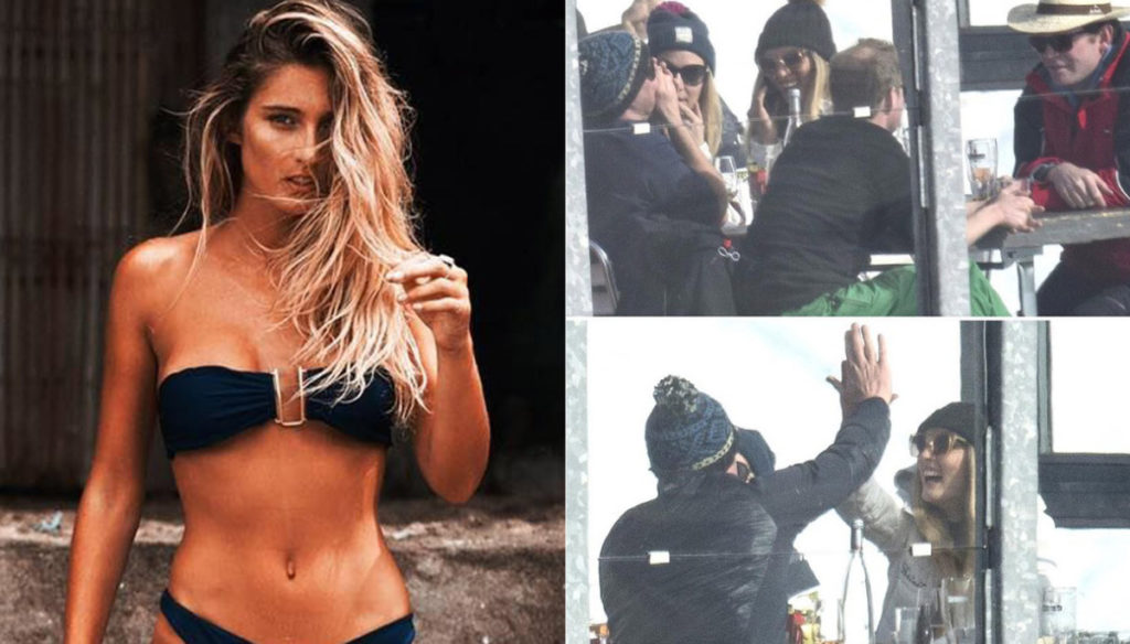 William without Kate Middleton, paparazzi in Switzerland with model Sophie Jean Taylor