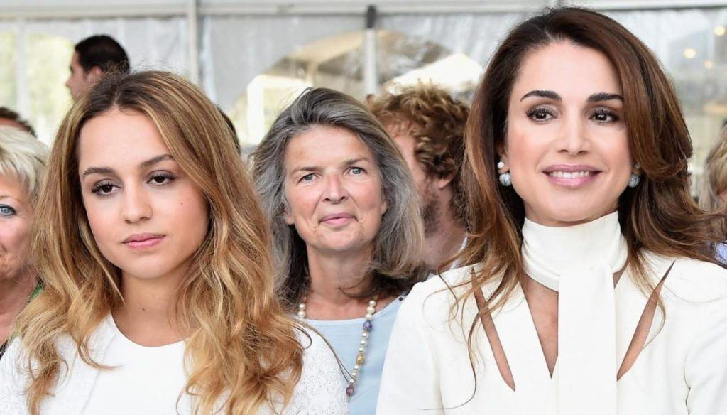 Who is Iman, the first daughter of Rania of Jordan