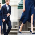 Meghan Markle in blue conquers Melbourne. And Harry makes a girl cry