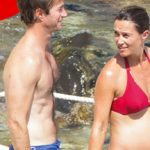 Pippa Middleton pregnant in the seventh month: bikini with a big belly
