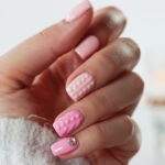 "Knitted nails: nails for parties ""sweater effect"""