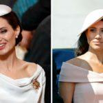 Angelina Jolie, princess look: copy Meghan Markle