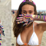 Psychedelic effects on the skin: the fashion of body marbling
