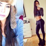 Jen Selter, selfie B side by one and a half million followers on Instagram