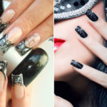 """Halloween Nail Art: """"masked"""" nails for the witches' night"""