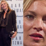 Kate Moss starts showing the first wrinkles