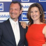Amadeus and Giovanna Civitillo prepare Sanremo together