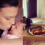 Claudia Galanti's surprising diet after childbirth. Photo