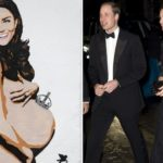 Even Kate Middleton portrayed naked with a big belly. Scandal at court?