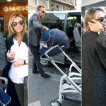 Facchinetti and Wilma leave the hospital after giving birth. Time Lapse Video