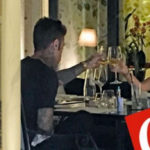 Fedez and Chiara Ferragni for dinner together and in her suite