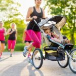 Fit after the birth: running with the stroller, like the Canalis