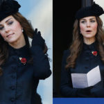 Kate Middleton, curls and chic hat for Remembrance Day