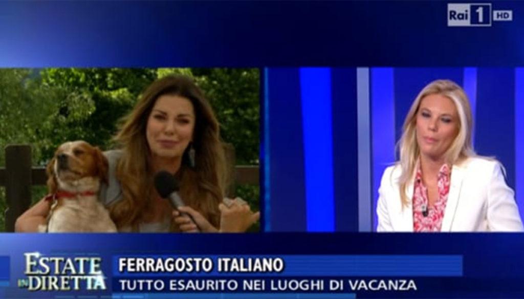Lite live on TV between Alba Parietti and Eleonora Daniele