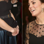 Pregnant Kate, fall of style: embarrassing look with polka dots and transparencies