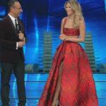 Sanremo first episode: Diletta Leotta as Belen at the Festival