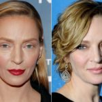 Unrecognizable Uma Thurman: wrong makeup or heavy retouching? It is controversy