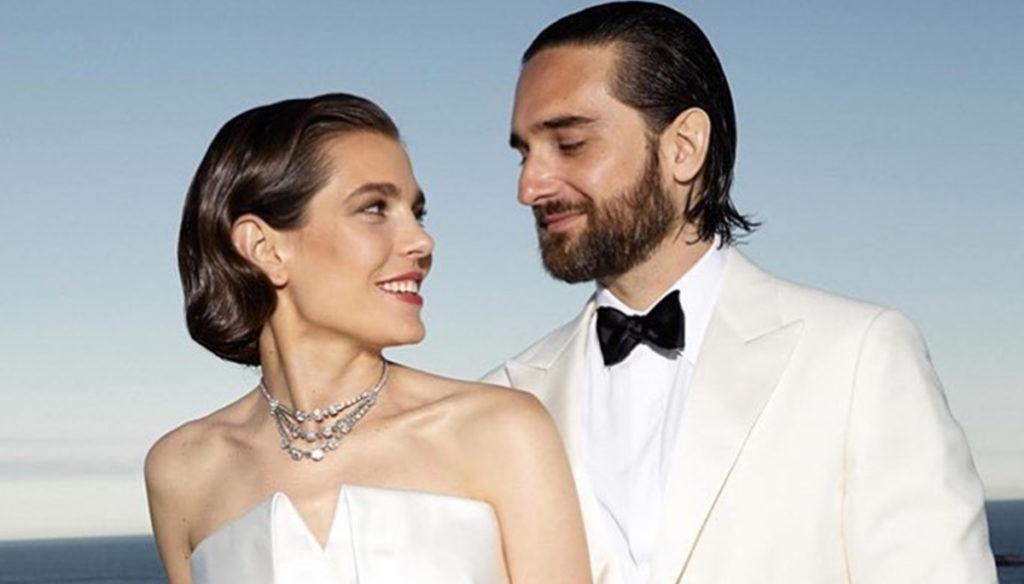Charlotte and Dimitri celebrate the wedding. Carolina goes wild on the dance floor