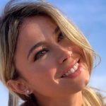 Diletta Leotta: dinner invitation and a bouquet of roses signed MB