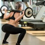 Exercises: the circuit with squats and lunges