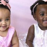 Isabella and Gabriella, the beautiful twins with a different skin color