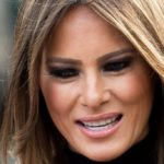 Melania Trump in white: first appearance after the pornstar scandal