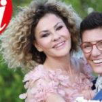 Eva Grimaldi and Imma Battaglia brides, Garko witness (and dedication of D'Urso)