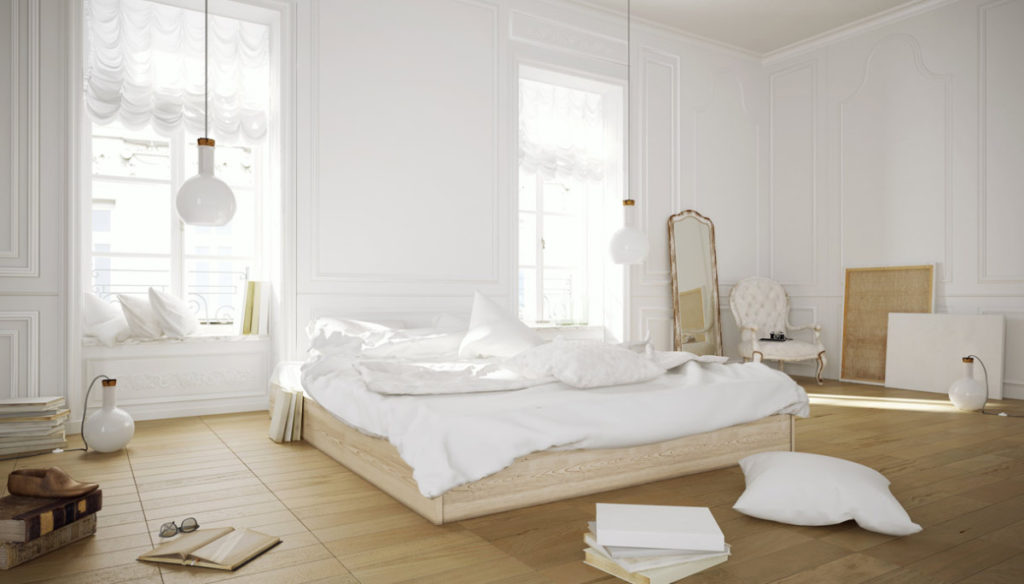 Sleep well: the room and the orientation of the bed
