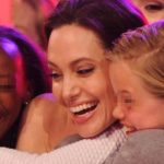 Angelina Jolie, first appearance after removing the ovaries: here she is with her babies